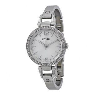 Fossil Watch✨ Georgia Glitz Silver Bangle Watch