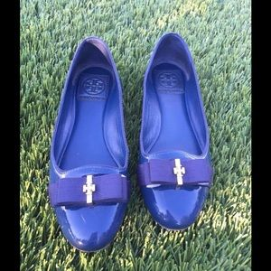 Tory Burch Navy Blue Flats 💯Authentic