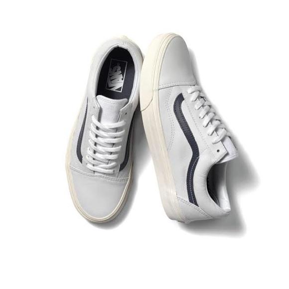 Matte White Leather Old Skool Vans. M 5816ae79f0137db71d0e7c61 7357dfd0d807