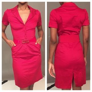 FITTED RED DRESS FOR WORK OR PLAY S