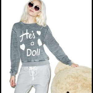 Wildfox Tops - WILDFOX HE'S A DOLL SWEATSHIRT