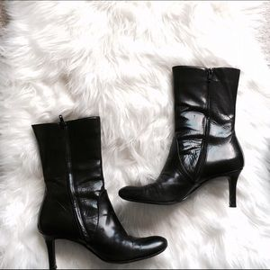 Dries Van Noten Shoes - Dries Van Noten Black Leather Heeled Boots