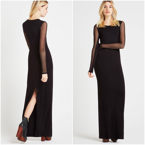 Sheer Sleeve Gown