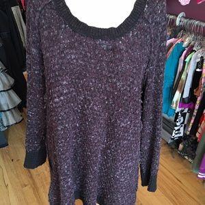 Free People L purple Sweater