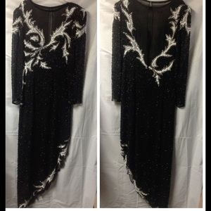 Vintage beaded & sequined dress. Size 8