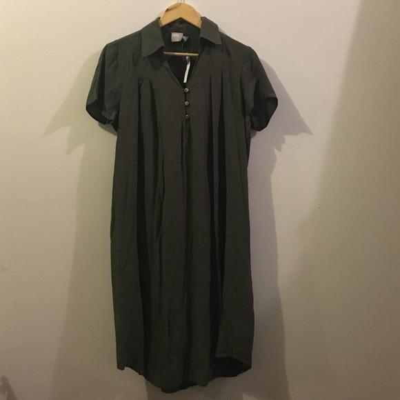 46f32bb98e292 ASOS Dark Green Maternity Collar Shirt Dress. M_5816b83bc6c795eb4c0327b5