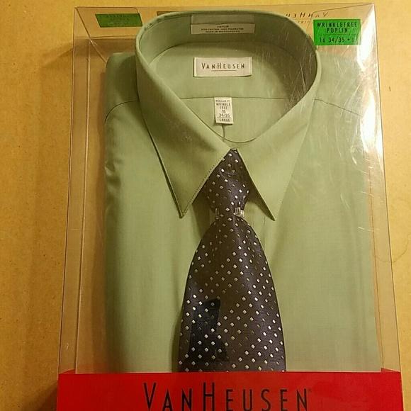 Van Heusen Shirts Dress Shirt And Tie Combo Poshmark