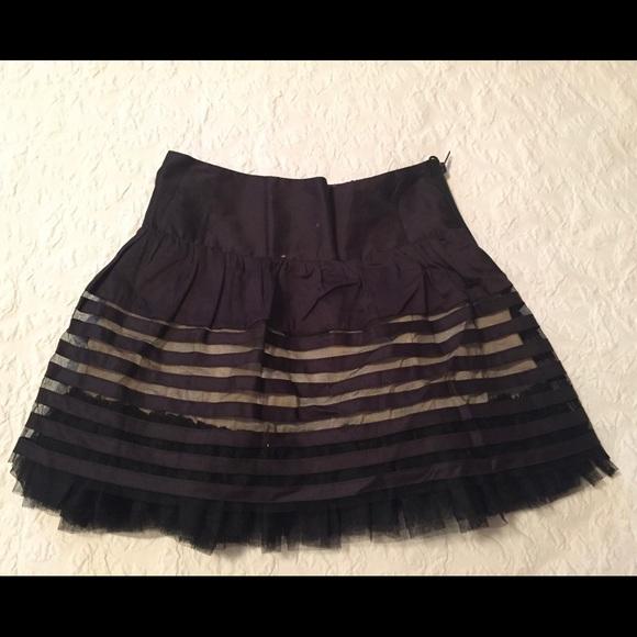 431ddfc478 Free People Skirts | Black Tulle Mini Skirt Size 2 | Poshmark