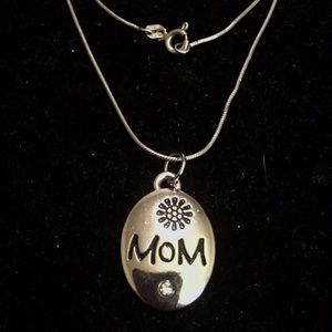 MOM PENDANT.925 STERLING SILVER NECKLACE