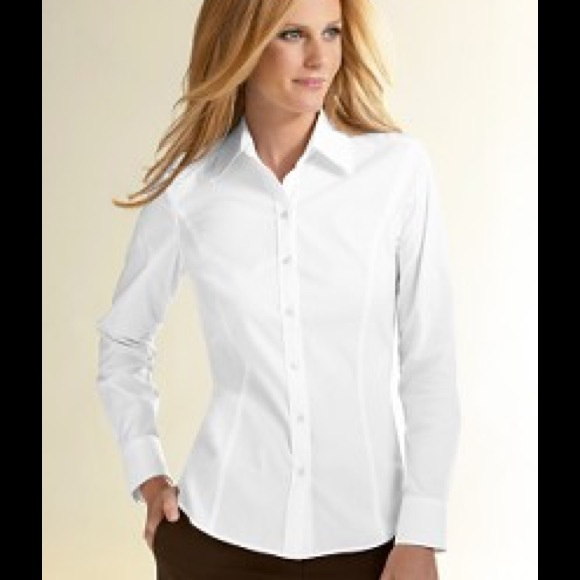 63 Off Loft Tops White Tailored Button Down Shirt From