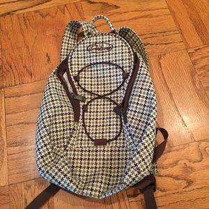 Dakine Handbags - Dakine green and brown tweed small backpack