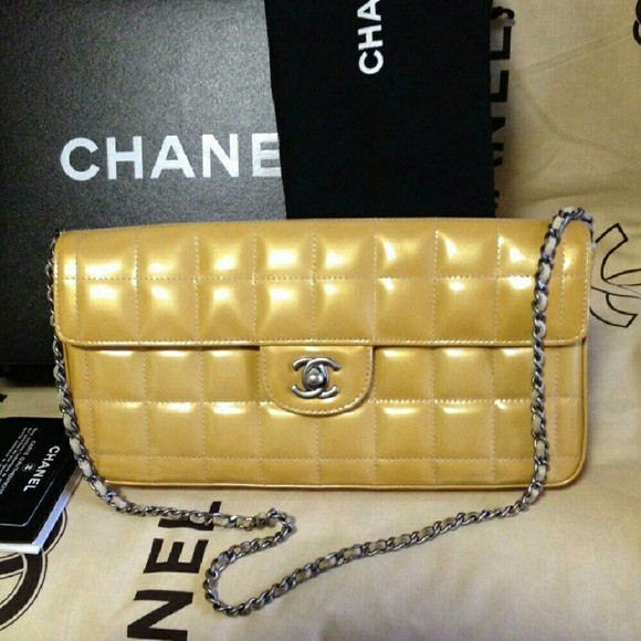 839cc663ff93 CHANEL Bags | Authentic East West Chocolate Bar Lambskin | Poshmark