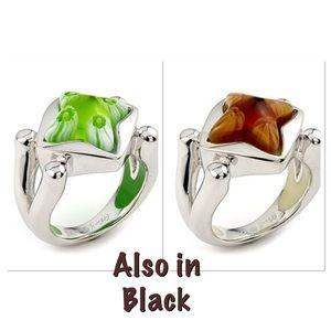 Alan K Jewelry - Murano Glass silver 925 rings Alan K select color
