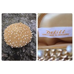 Vintage Gold Chain  and Pearl Coin Purse