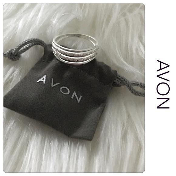 Avon Jewelry Sterling Silver Cz Layer Ring Poshmark