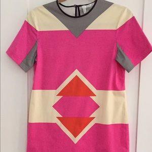10 Crosby Derek Lam Dresses & Skirts - Derek Lam 10 Crosby Aztec Print Neon Dress, size 2