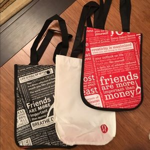 Lululemon Shopping Bags! 3 Small for $5 ❤️