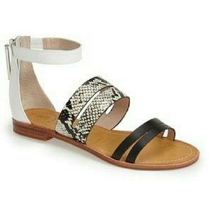 French Connection 'Harley' Leather Sandals