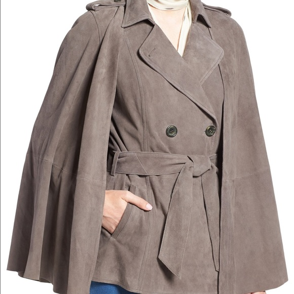 Olivia Palermo Jackets & Blazers - Chelsea28 Suede Trench Vest with removable cape