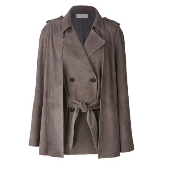 Olivia Palermo Jackets & Coats - Chelsea28 Suede Trench Vest with removable cape