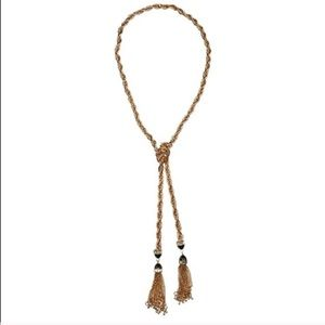 T & J Designs Luxe Gold Tassel Necklace