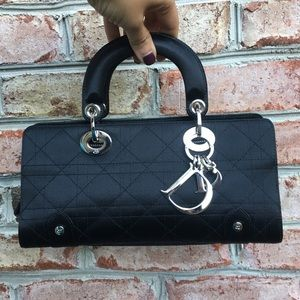 Dior Handbags - Authentic Lady Dior Satin Bag