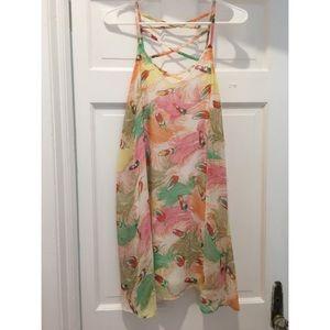 Maude Feather print sun dress