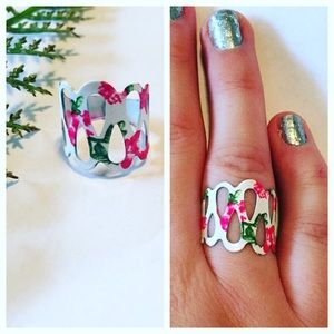 Pineapple.PalmBeach Jewelry - Floral Art Deco Ring