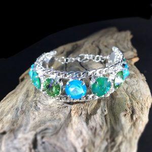 Jewelry - Handcrafted bracelet with Swarovski crystal #180