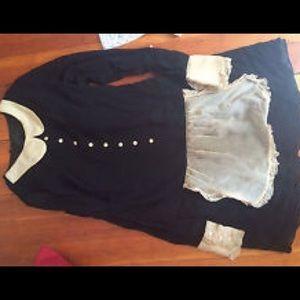 Anna Sui Dresses & Skirts - Anna Sui black label maid dress Lolita silk kawaii