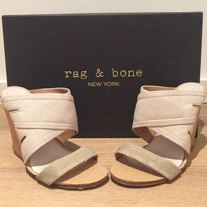 Rag & Bone natural canvas Shaw Mule, size 37