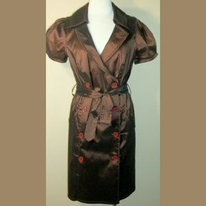 Oleg Cassini Dresses & Skirts - Oleg Cassini OC OC brown short sleeve coat dress M
