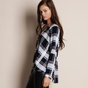 Bare Anthology Tops - Cross Front Plaid Top