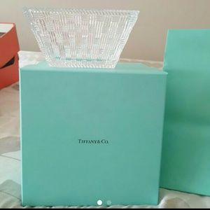 Tiffany & Co square glass bowl