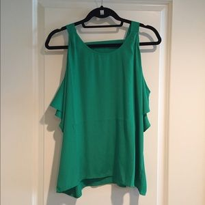 ASOS Green top - open shoulders and low back