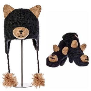 🐻 Other - 🆕 KnitWits Bear Hat and mittens. Youth size Small