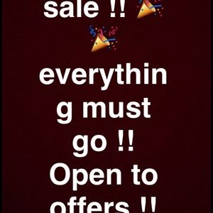 Open to offers everything must go