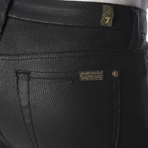 7 For All Mankind Jeans - Faux Leather Skinny Jeans in Black