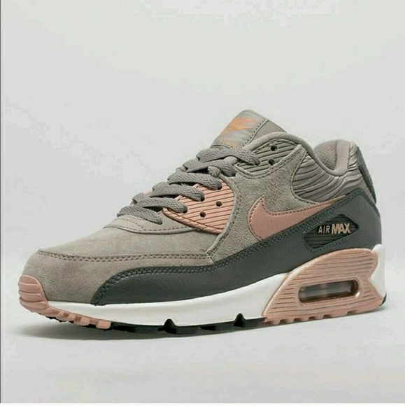separation shoes b6fa5 c1da9 Nude Nike Air Max 90 iron metallic bronze. M 5817a720c6c795378305b61e