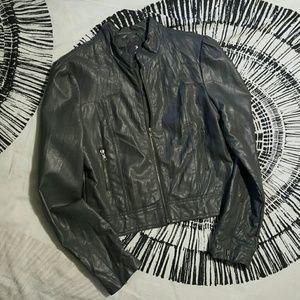 Forever 21 Jackets & Blazers - Grey faux leather jacket
