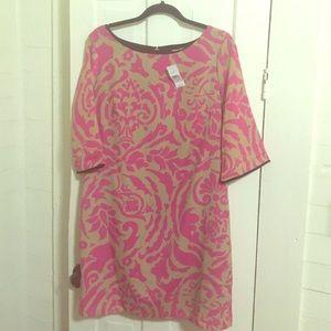 Ann Taylor loft retro print shift dress