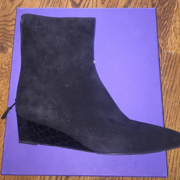best prices cheap price ebay cheap price Stuart Weitzman Suede Alma Booties outlet sale online 47WBwTWXs