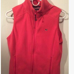 Pink Vineyard Vines Fleece Vest