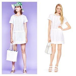 Kate Spade White Pleated Drop Waist Dress - 2