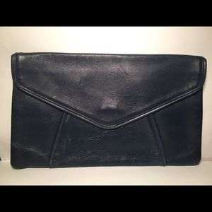NAVY envelope clutch