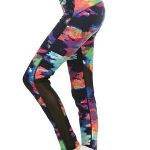 Pants - Multi color MESH detail workout leggings yoga