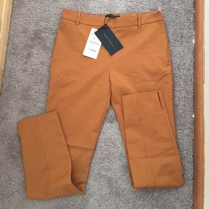Zara Golden Yellow slim fit pants S BRAND NEW!