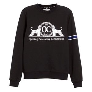 Opening Ceremony Tops - Opening Ceremony Kennel Club Black Sweatshirt
