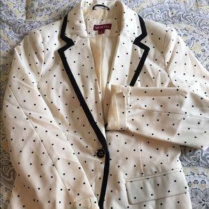 Merona Size 2, black and white polka dot Blazer