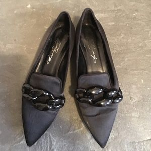 Diana Broussard Shoes - Silk pointed toe flats